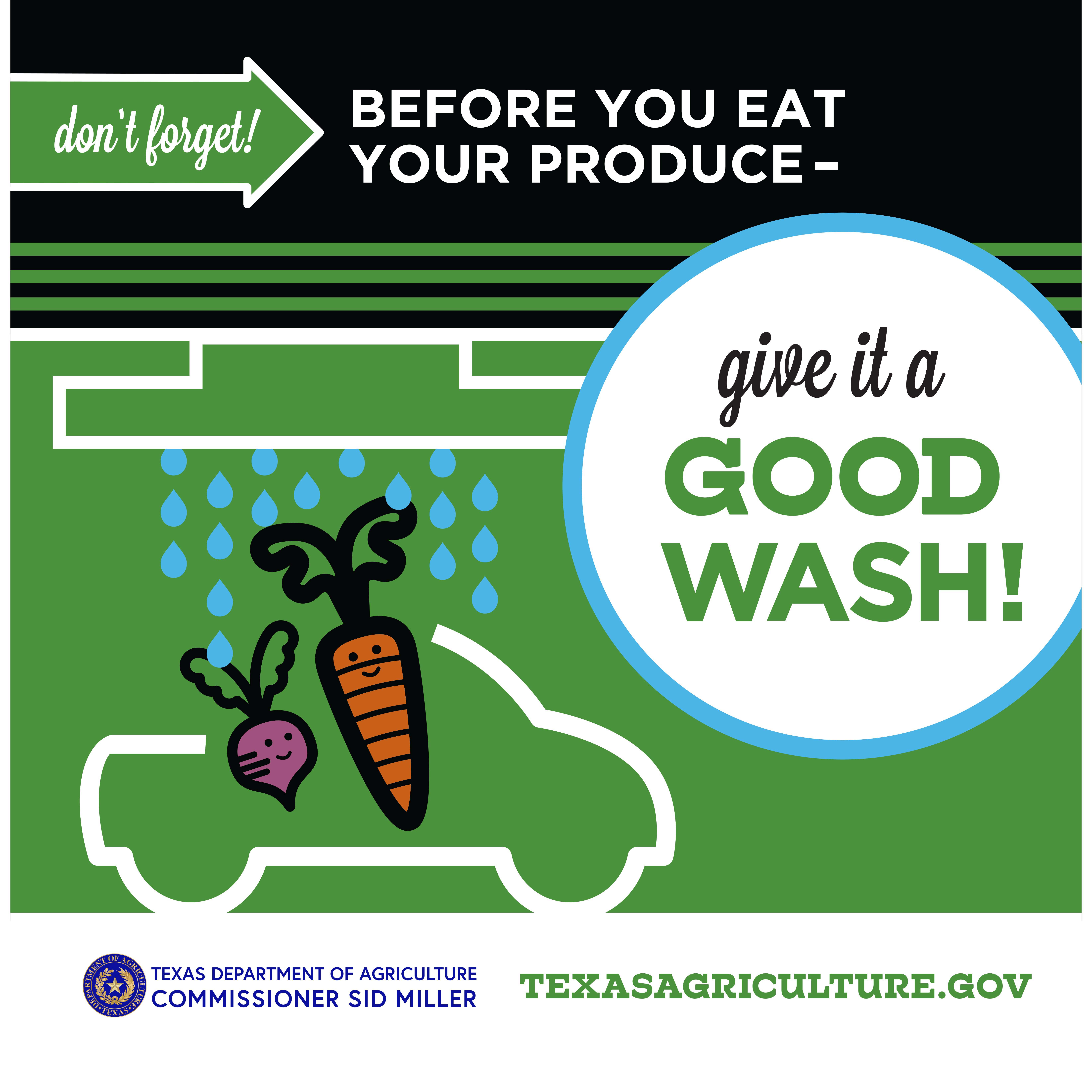 Produce safety information card